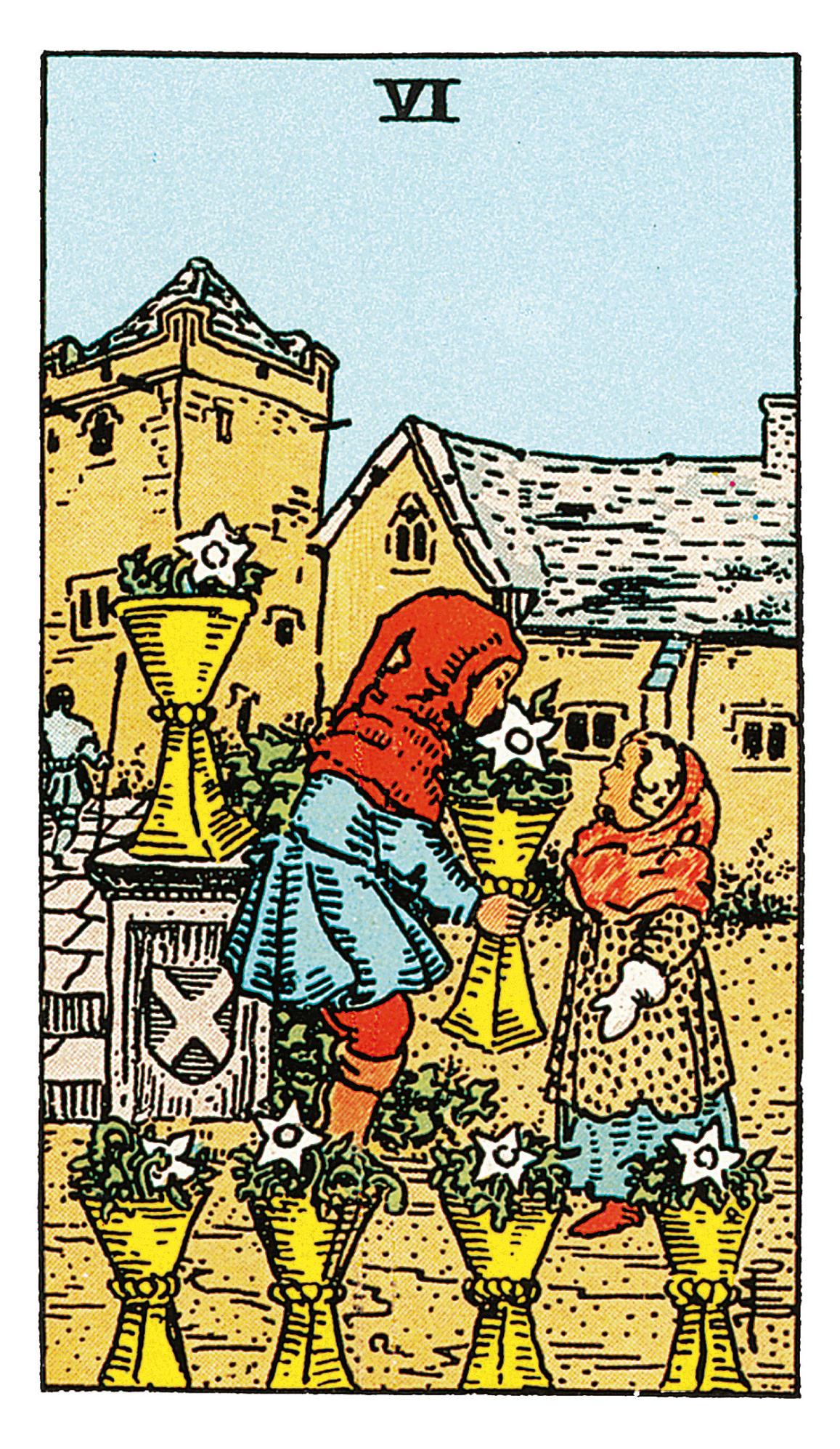 Sechs Der Kelche Deine Tarotkarte Brigittede