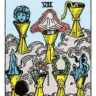 Tarotkarte Sieben der Kelche