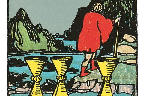 Tarotkarte Acht der Kelche