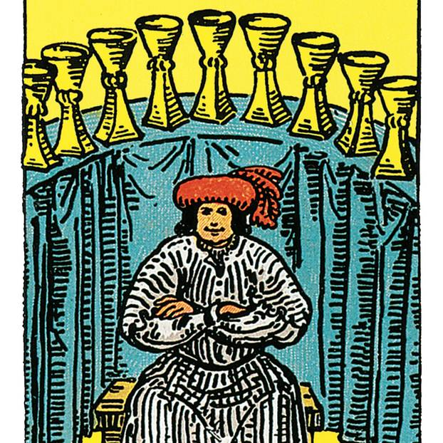 Tarotkarte Neun der Kelche