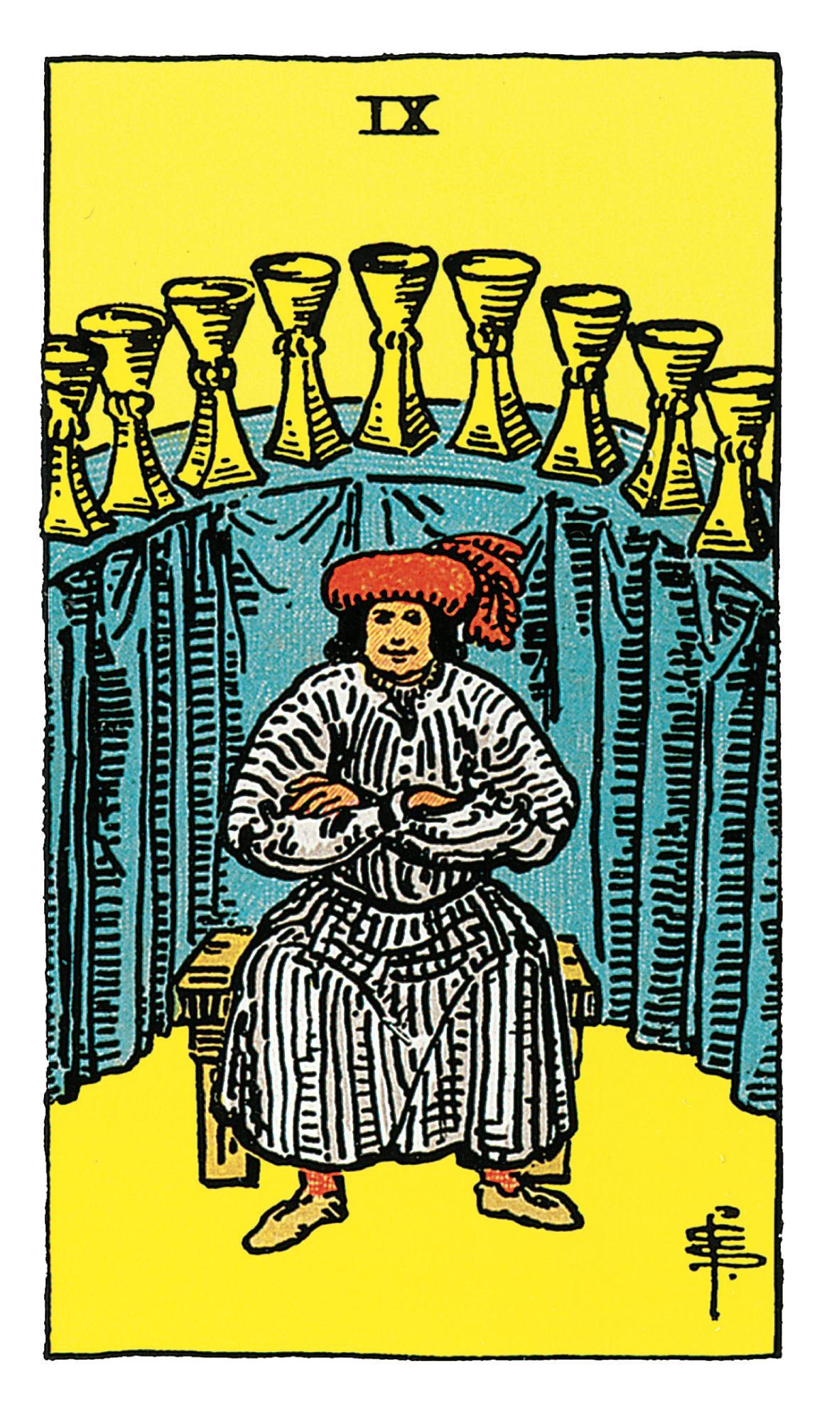Neun Der Kelche Deine Tarotkarte Brigittede
