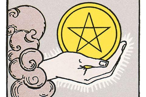 Tarotkarte Das Ass der Münzen