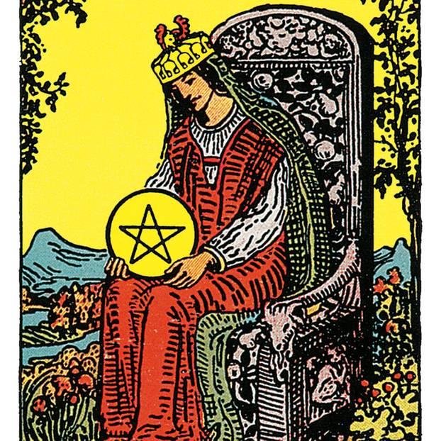 Die Königin Der Münzen Deine Tarotkarte Brigittede