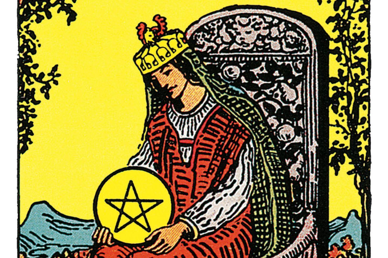Tarotkarte Die Königin der Münzen