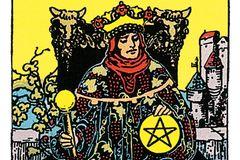 Tarotkarte Der König der Münzen