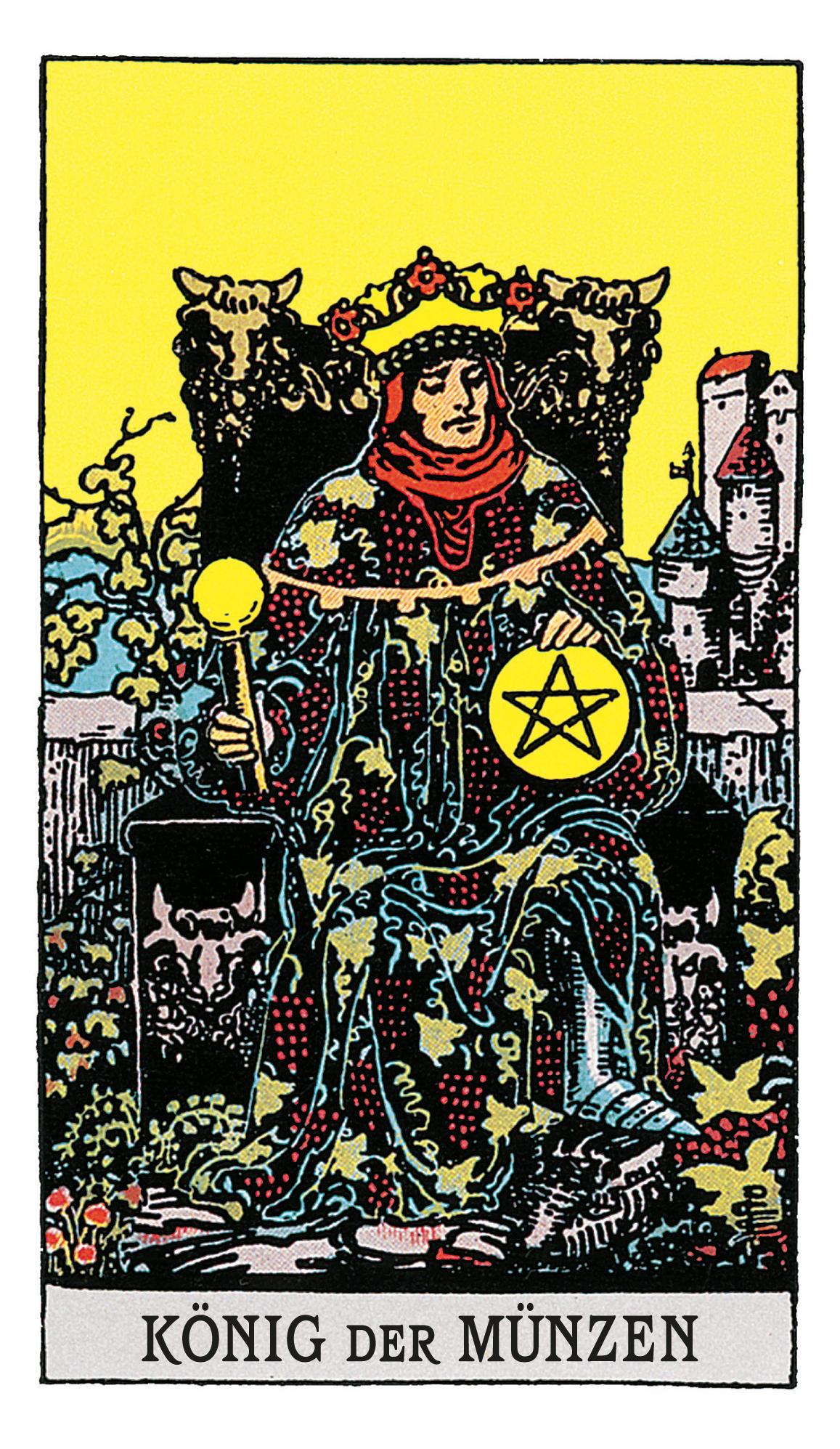 Der König Der Münzen Deine Tarotkarte Brigittede