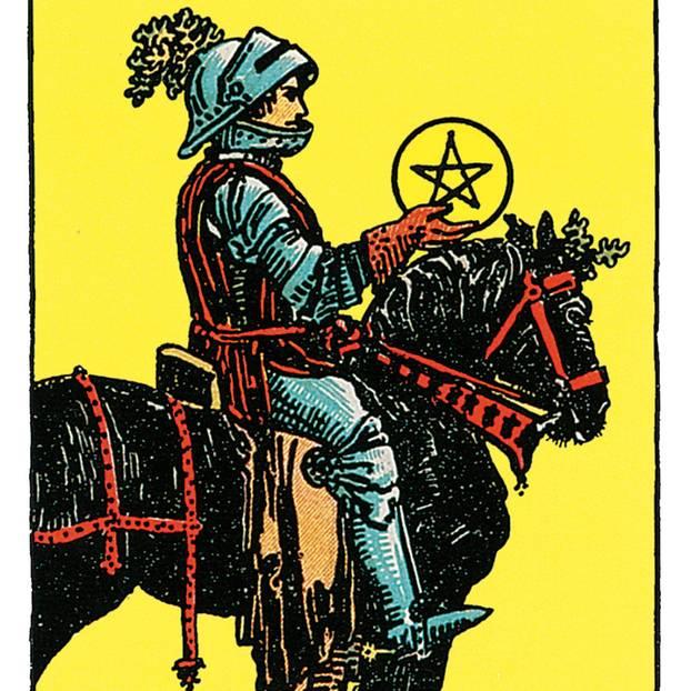 Der Ritter Der Münzen Deine Tarotkarte Brigittede