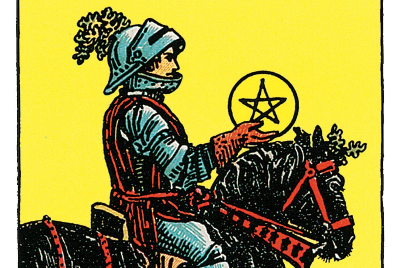 Tarotkarte Der Ritter der Münzen
