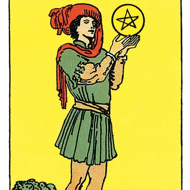 der bube der münzen  deine tarotkarte  brigittede