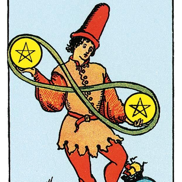 Zwei Der Münzen Deine Tarotkarte Brigittede