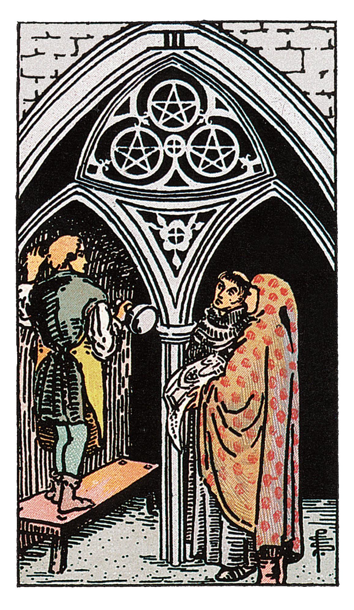 Drei Der Münzen Deine Tarotkarte Brigittede