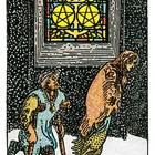 Tarotkarte Fünf der Münzen