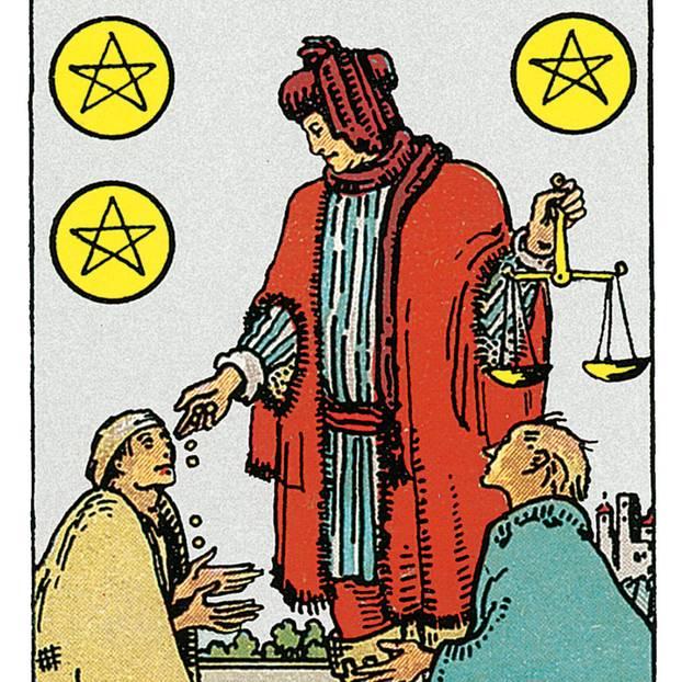 Tarotkarte Sechs der Münzen