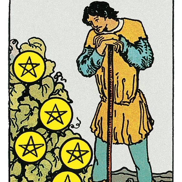 Sieben Der Münzen Deine Tarotkarte Brigittede