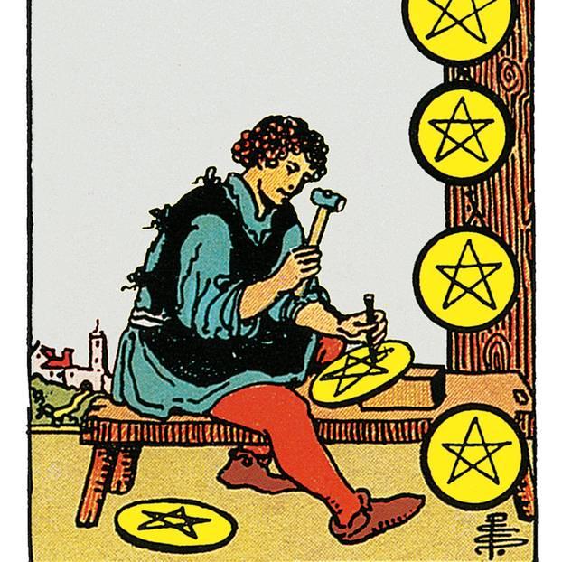 Acht Der Münzen Deine Tarotkarte Brigittede
