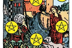 Tarotkarte Zehn der Münzen