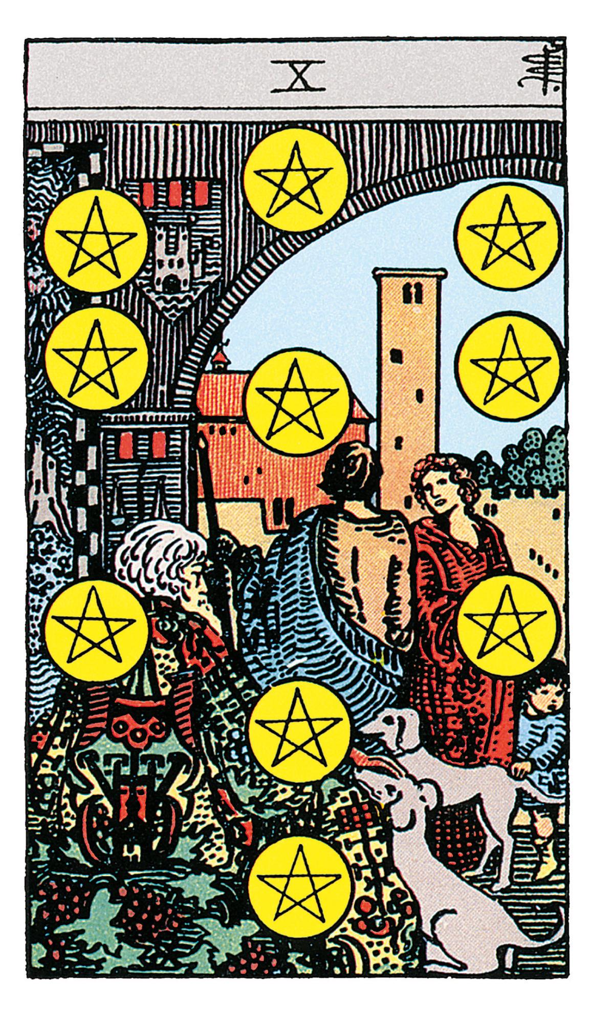 Zehn Der Münzen Deine Tarotkarte Brigittede