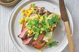 Steak-Stulle mit Gurken-Relish