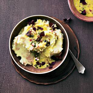 Kartoffel-Thunfisch-Püree mit Kapern-Vinaigrette