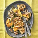 Wacholder-Filet mit Apfel-Schalotten-Gemüse