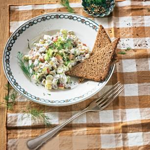Matjes-Salat mit Dill