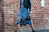Jeanslooks aus Mailand: Jeanskleid