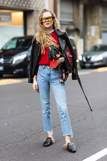 Jeanslooks aus Mailand: Ausgewaschene Jeans