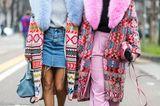 Jeanslooks aus Mailand: Minirock aus Denim