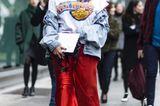 Jeanslooks aus Mailand: Jeansjacke
