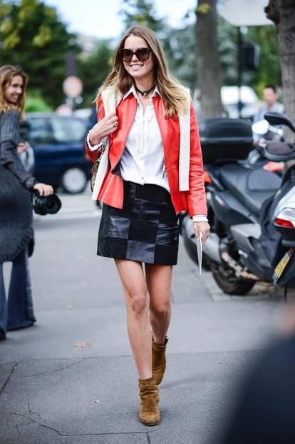 Die schönsten Streetstyles, die Lust auf Frühling machen: Leder-Look