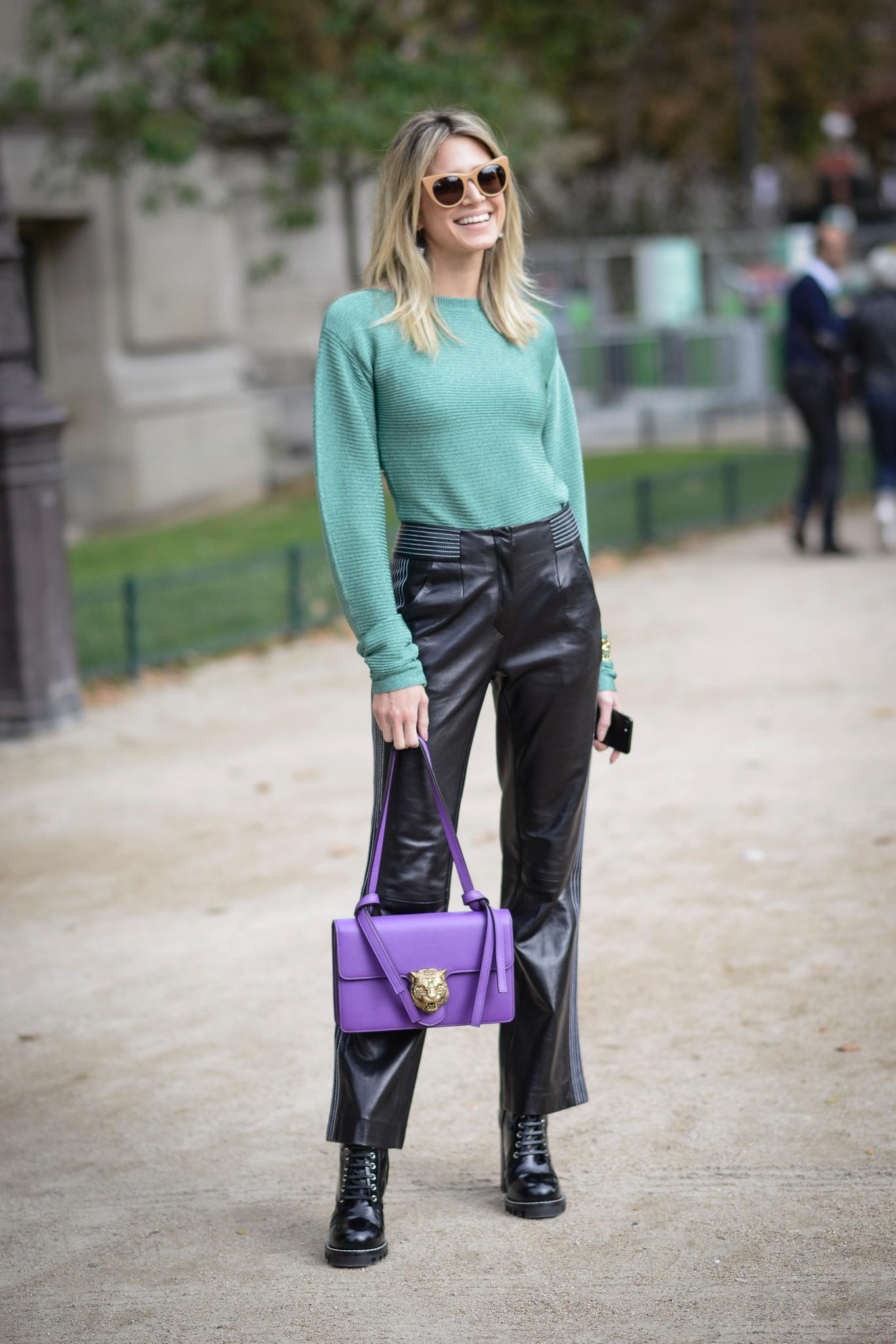 Die schönsten Streetstyles, die Lust auf Frühling machen: Lederhose