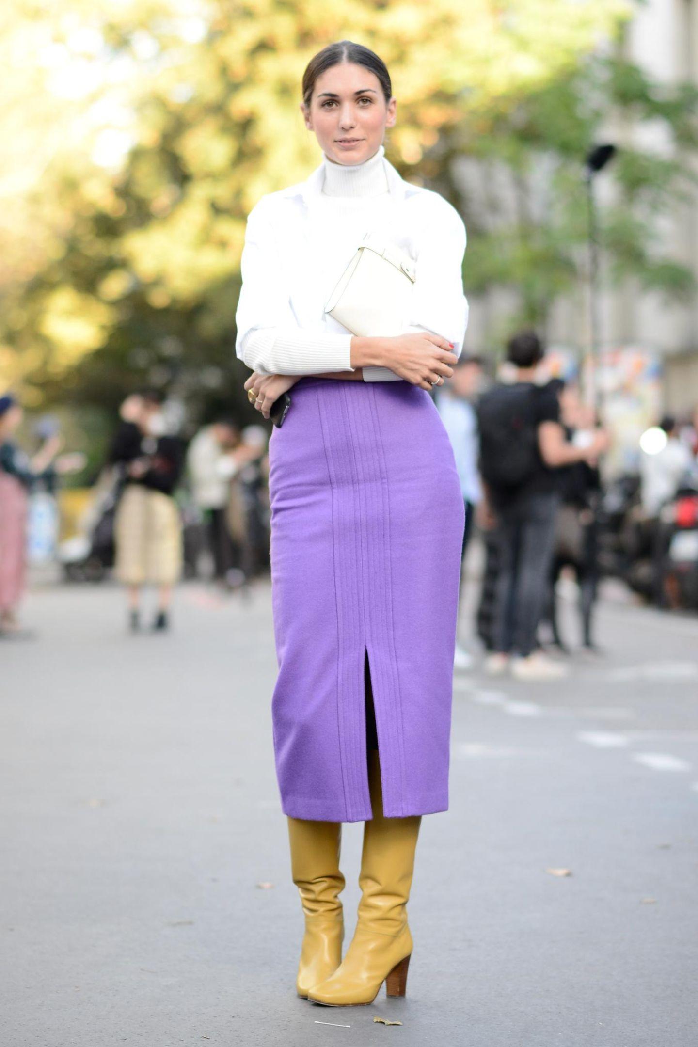 Die schönsten Streetstyles, die Lust auf Frühling machen: Pencil-Skirt