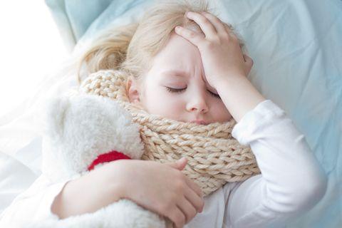 Kind krank zur Schule