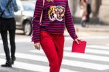ROT! Auch gestreift zu einem Statement-Tiger super-stylish!