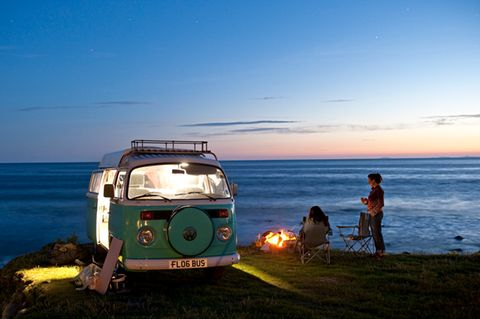 Urlaub in Wales mit Bulli