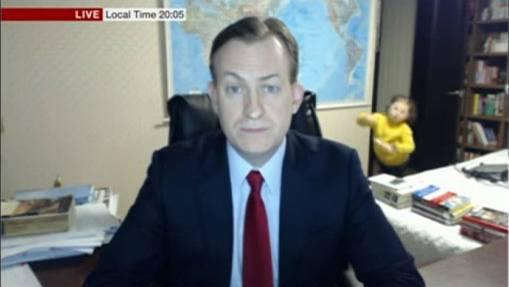 Seine Kinder sprengen das Interview dieses BBC-Experten
