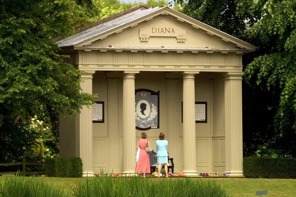 Prinzessin Dianas Grabstätte in Althorp Park