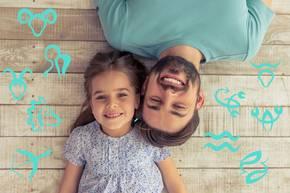 Sternzeichen, die gute Väter sind: Papa und Tochter