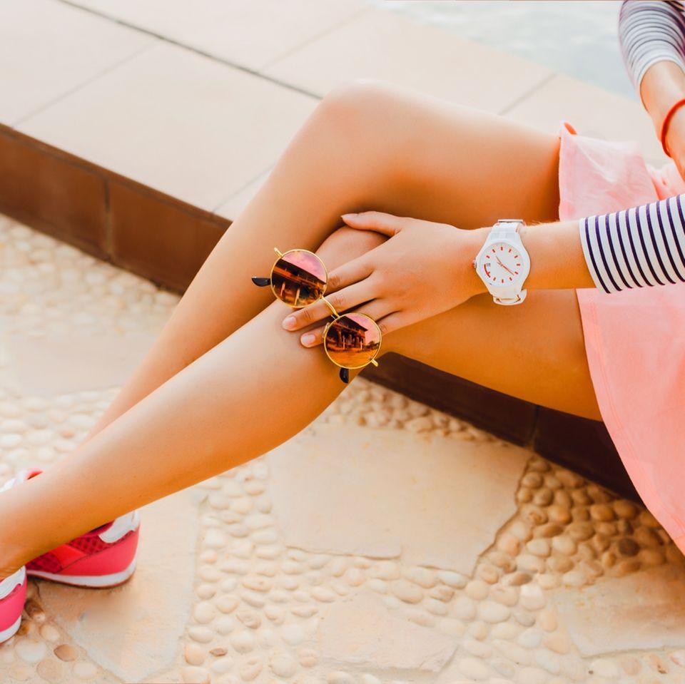 Knie pflegen - aus knubbelig wird zart