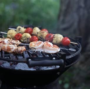 Grillrezept für Tomaten-Polenta-Spieße