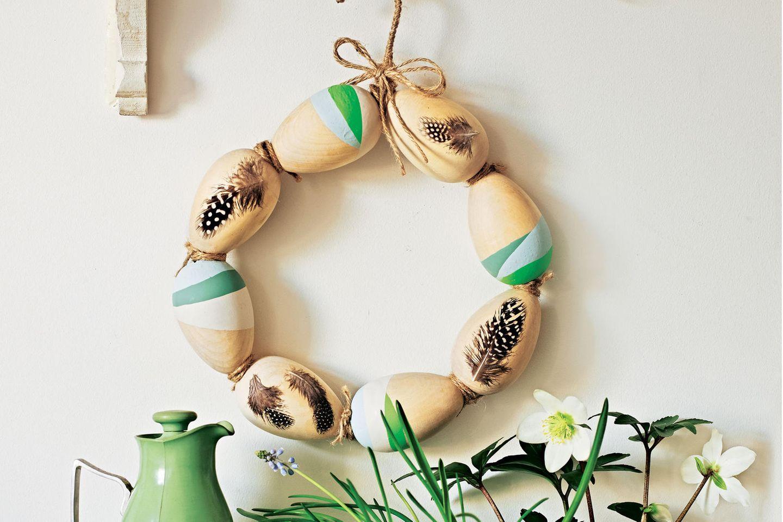 Eier-Kranz basteln