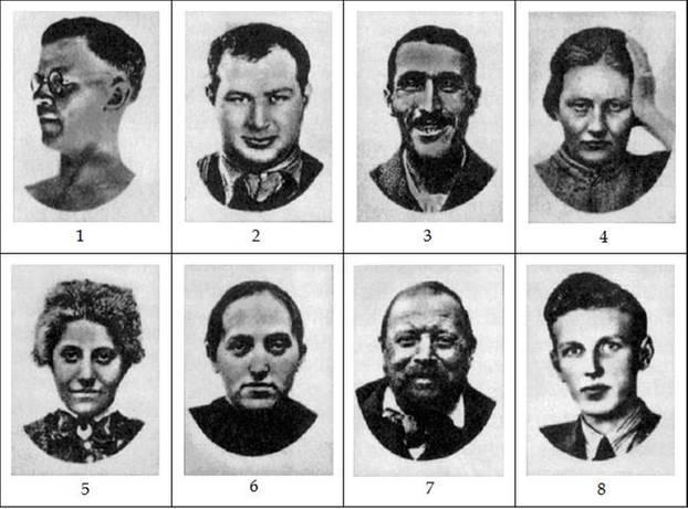 Welche dunkle Seite hast du: Verschiedene Gesichter