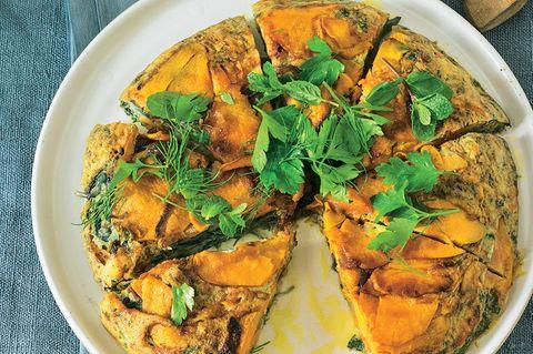 Süßkartoffel-Tortilla mit Manchego-Käse