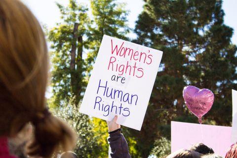 Frauen kämpfen für ihre Rechte