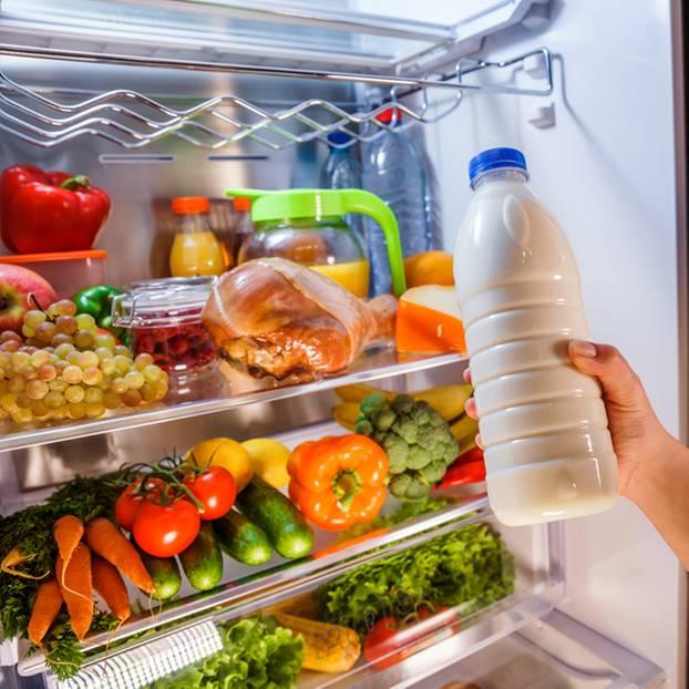 Milch, Kühlschrank