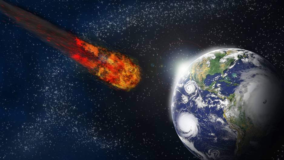 Komet rast an der Erde vorbei!