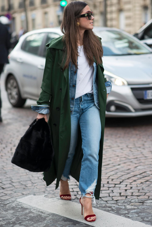 Streetstyle-Bild: Jeansjacke zum Blazer umfunktionieren