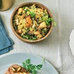 Kräuterseitling-Quinoa