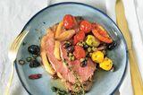 Roastbeef mit Marsala-Schalotten und Tomaten