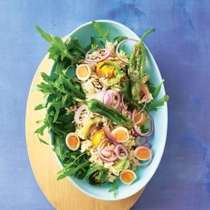 Wildreissalat mit Thunfisch und Pimientos